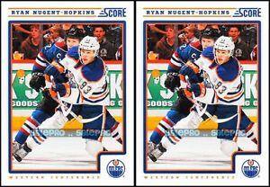 2x-SCORE-2012-RYAN-NUGGET-HOPKINS-NHL-EDMONTON-OILERS-SUPERSTAR-191-MINT-LOT