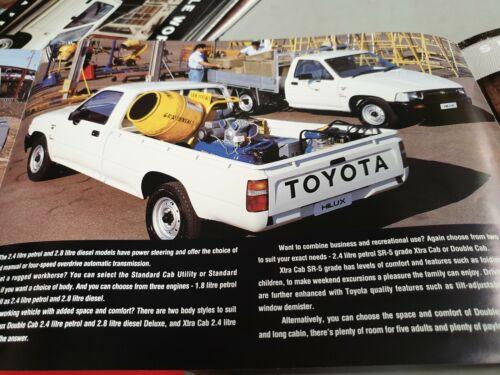 1992 TOYOTA HILUX 4X2 Australian Sales Brochure