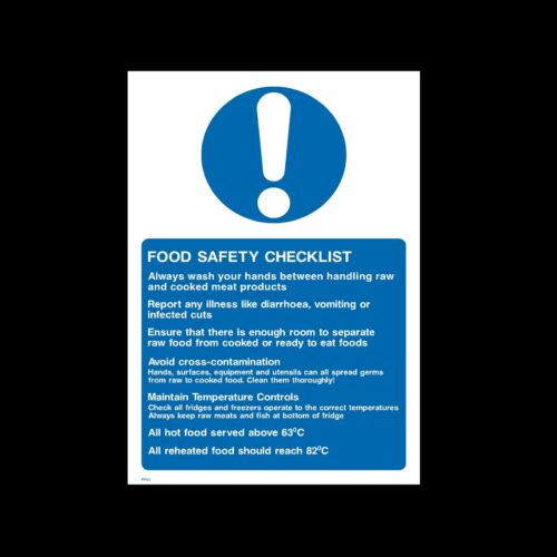 Sticker FP43 Food Safety Checklist Sign All Sizes /& Materials -