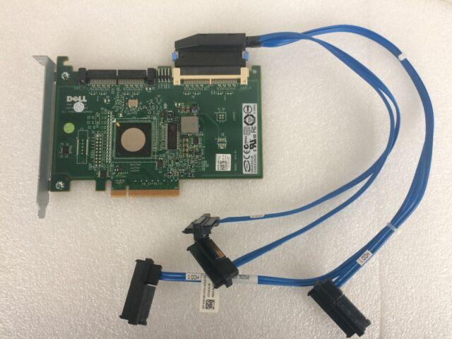 Dell 6/ir sas RAID controladora PCI-e x8 con cable RAID level 1/0 p/n 0jw063