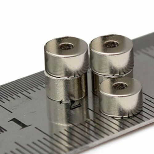 2pcs 7mm x 4mm With 2mm Hole Small Round Neodymium Ring Disc Hole Magnets