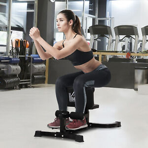 HOMCOM-Squat-Bench-Trainer-Sit-Up-Machine-Ab-Curl-Workout-Home-Gym