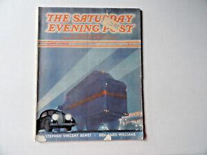 Saturday-Evening-Post-Magazine-April-9-1938-Complete-Art-Deco-Cover-Cars-Trucks