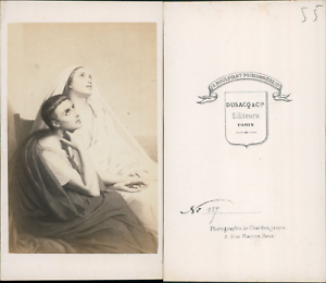 Religion-CDV-vintage-albumen-Tirage-albumine-6-5x10-5-Circa-1870-lt-div