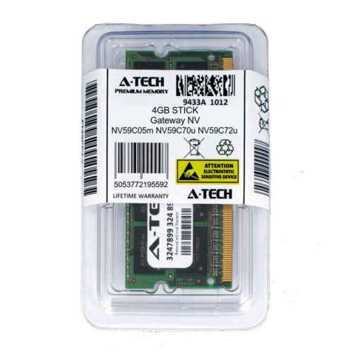 4GB SODIMM Gateway NV59C05m NV59C70u NV59C72u NV59C73u PC3-8500 Ram Memory