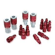 Legacy A73458D Color Connex Type D 14 Piece. 1/4-Inch Red Coupler and Plug Kit