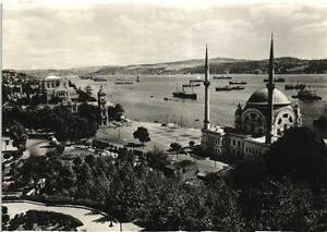 TURKEY ISTANBUL ISLAM MOSQUE REAL PHOTO POSTCARD NICE STAMPS 1956