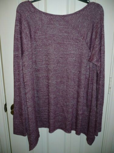 a.n.a Women/'s V-Neck Long Sleeve Tunic Sweater Size X-Large Berry Crush New