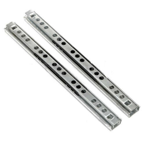 2xKitchen Cupboard Drawer Slides Furniture Guide Rail Full Extension Tool Supply