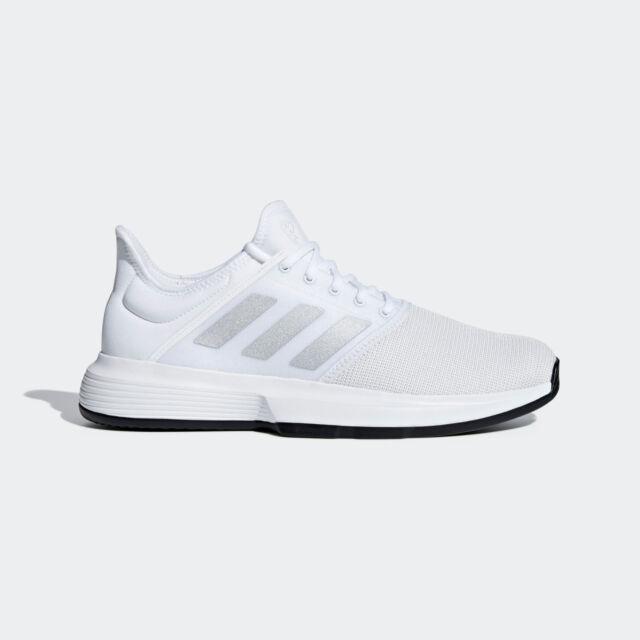 70ae0b28e749 Mens Adidas Game Court White Sport Tennis Athletic Court Shoes CG6333 Sz  11.5-13