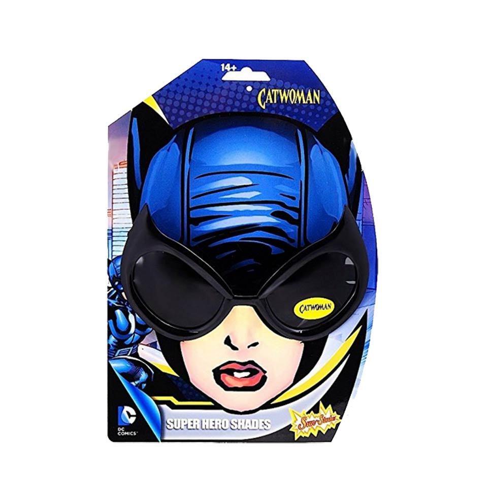 Sun-stache DC Cat Woman Glasses Sun Shades Black Adult Super Hero Cat Mask UV400