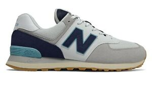 NEW-BALANCE-574-Core-Plus-Scarpe-Uomo-Sneakers-GREY-WHITE-BALI-BLUE-ML574SOU