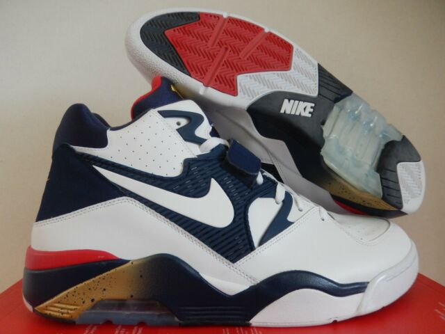 Nike Air Force 180 Mens Shoes White Navy Gold Sz 9 Olympic Barkley 310095100