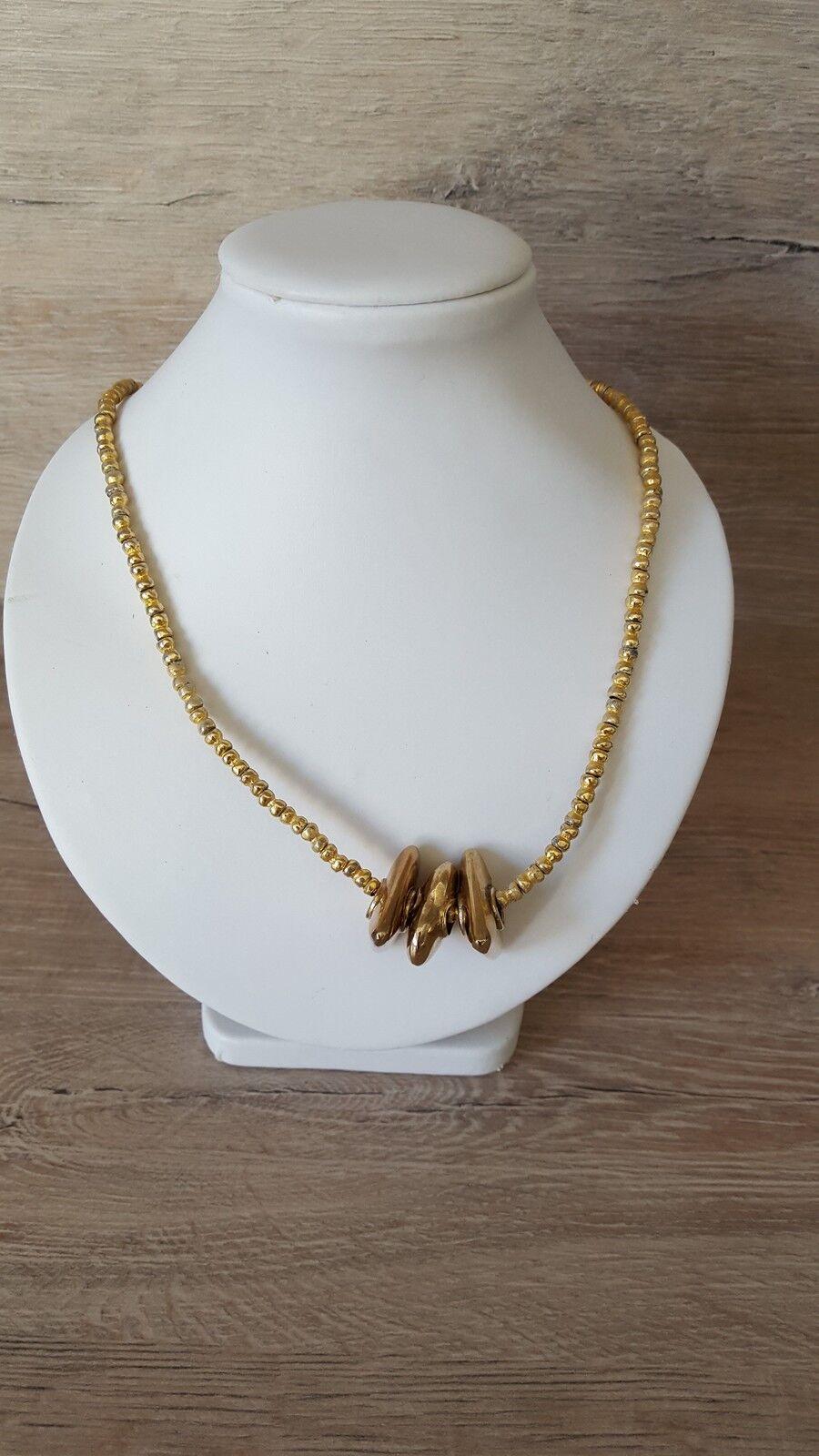 Halskette tolle Form auffällige Anhänger vergoldet edel 925 silver 36,05g CP2110