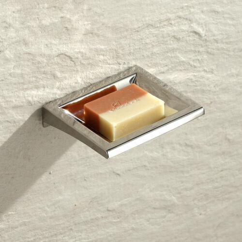 Fashion Square Polished Chrome SUS Soap Dish Holder Bathroom Shower Soap Dish
