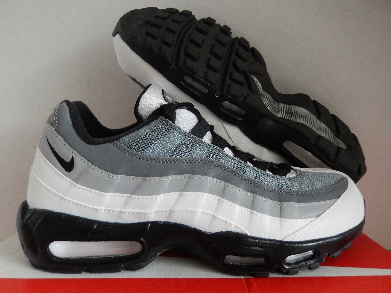 NIKE AIR MAX 95 ID GREY-LIGHT GREY-BLACK-WHITE Price reduction Special limited time