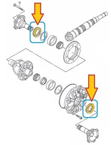 8D2, B5 Wellendichtring 45x60x8 Getriebe Antrieb AUDI A4 1.9 TDI 2.4 2 St
