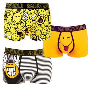 Smiley-World-Boxershorts-10-Stk-div-Designs-fuer-Herrn-und-Kinder-14-16-Jahre