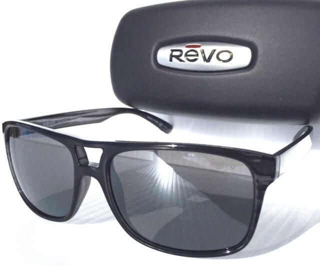 661c1447fb REVO HOLSBY Black Woodgrain w POLARIZED Grey Graph Lens Sunglass 1019 01