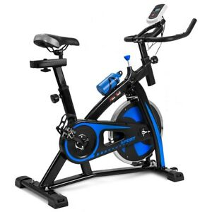 1be79ed5680 Exercise Bike Stationary Cycling Cardio Workout Fitness LED Screen Black