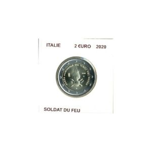 ITALIE 2020 2 EURO COMMEMORATIVE SOLDAT DU FEU SUP