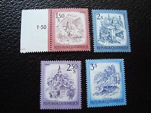 Stamp Yvert And Tellier N° 1269 A 1272 N Stamp Austria Pretty And Colorful Candid Austria a03