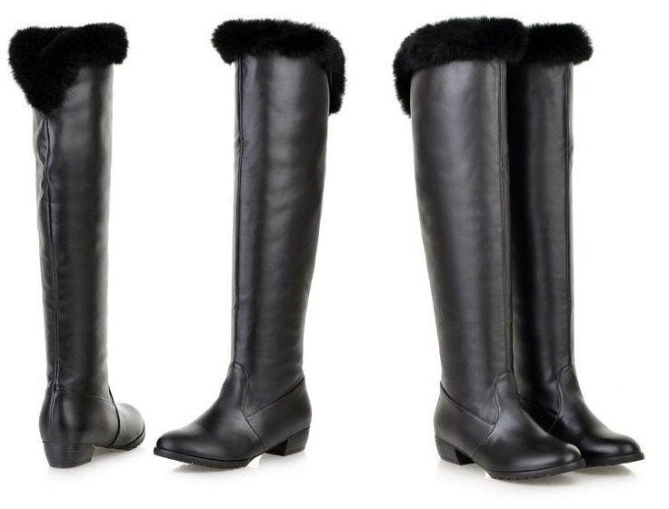 botas zapatos negro cabello sintético talón 3.5 3.5 3.5 como piel cómodo 9163 1b3dc9