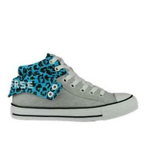 49eff59120d1 CONVERSE CT PC2 MID Grey Blue Leopard Womens Trainers 143732F