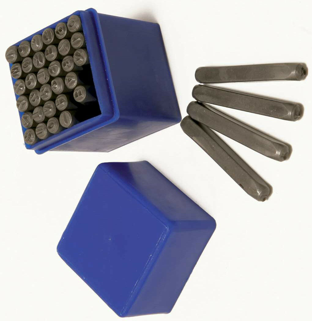 Crafts Beads & Jewelry Making 36pc Number & Letter Punch Set Alpha Numeric Carbon Steel Punches Craft