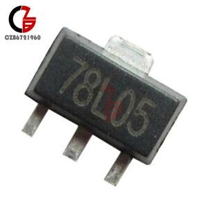 78L05 5V 100mA SOT-89 Fixed Voltage Regulator Pack of 10