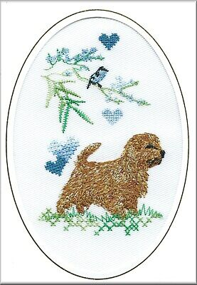 West Highland White Terrier Birthday Card or Notecard  Embroidered by Dogmania