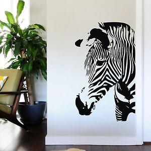 Large zebra animal wall sticker mural art removable vinyl for Diy room decor zebra