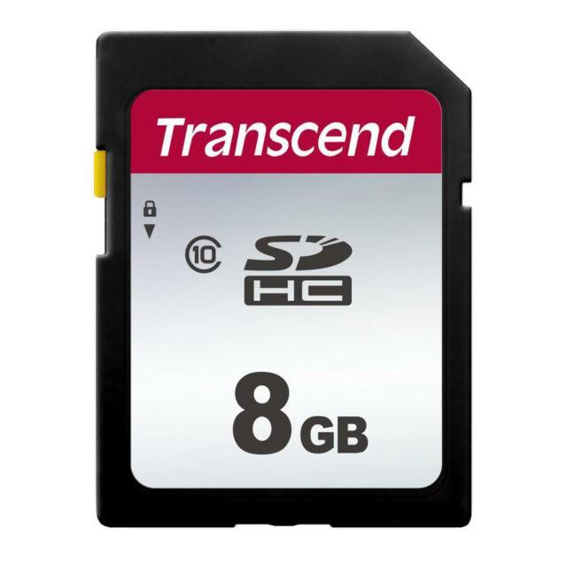 Transcend 8 Go SDHC Classe 10 Carte Mémoire SD Pour Canon Nikon Olympus Fuji