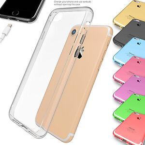 ULTRA-FINO-Sintetico-transparente-funda-de-Gel-para-Apple-iPhone-5s-6-6s-7-7