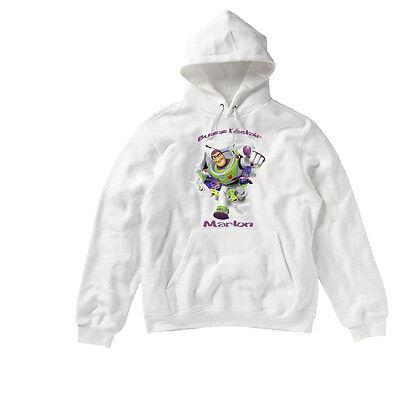 Sweat à capuche enfant Buzz l'Eclair à personnaliser avec le prénom au choix | eBay