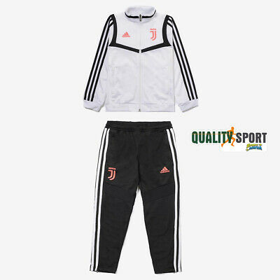 Adidas Juventus Tracksuit Official Child Original White Black DX9116 20192020 | eBay