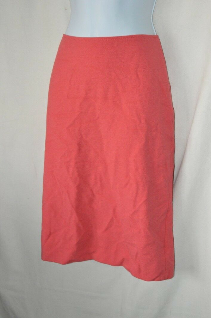 Armani Collezioni Womens 4 Coral Pink Textured Straight Pencil Skirt NEW Knee