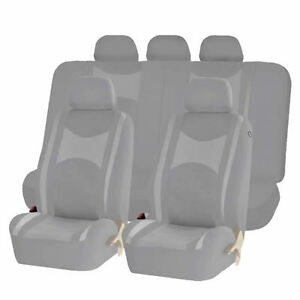 Strange Details About All Gray Honeycomb Mesh Split Bench Seat Covers Set For Cars 1242 Ibusinesslaw Wood Chair Design Ideas Ibusinesslaworg