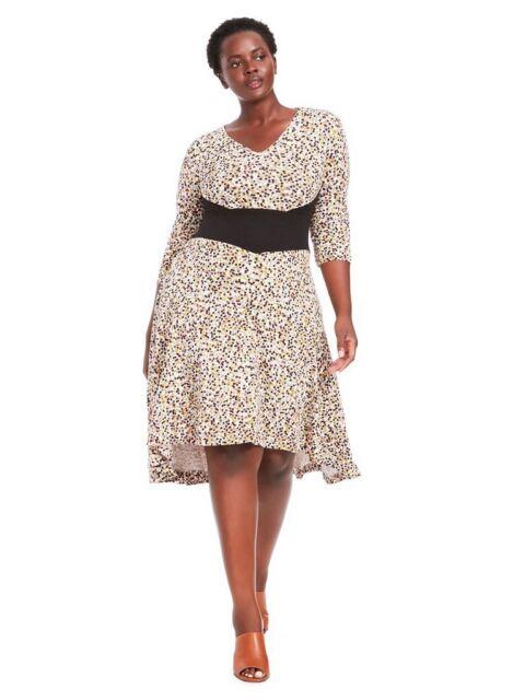 b6421f24d5b EFFIE S HEART Dauphine Dress In Mardi Gras V Neck 3 4 sleeve dot print Size