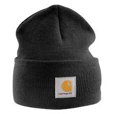 Carhartt Fire Steel Earflap Hat Mens Black Acrylic Beanie One Size ... c312635c9110