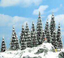 Busch 6466 (HO): Bomen: WINTERSET: 20 besneeuwde dennen