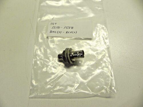 Agilent HP Keysight 1250-1558 Coaxial Straight Female-BNC Female-RCA Phono