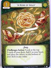 """A Game of Thrones 2.0 LCG - #038 """"A Rose of Gold"""" - Lions of Casterly Rock"""