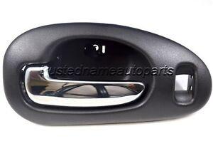 For chrysler inside interior door handle driver front black housing chrome lever ebay for Chrysler sebring interior door handle
