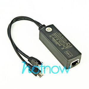 USB TYPE C 5V 2.4A Active PoE Splitter Power Over Ethernet 802.3af 100mbps