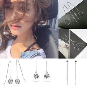 Women-Geometric-Line-Drop-Dangle-Long-Chain-Threader-Thread-Earrings-Jewelry