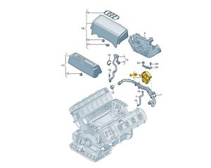 Audi 079103464D Engine Crankcase Vent Valve//Crankshaft//Crankcase Misc