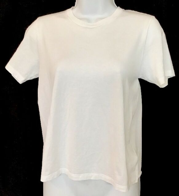 Saint Laurent White Cotton Short Sleeve T-shirt  Size XS