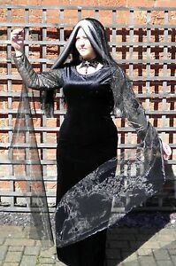 Morticia-Addams-Family-Style-Fancy-Dress-Costume-Halloween-Plus-Size-8-30
