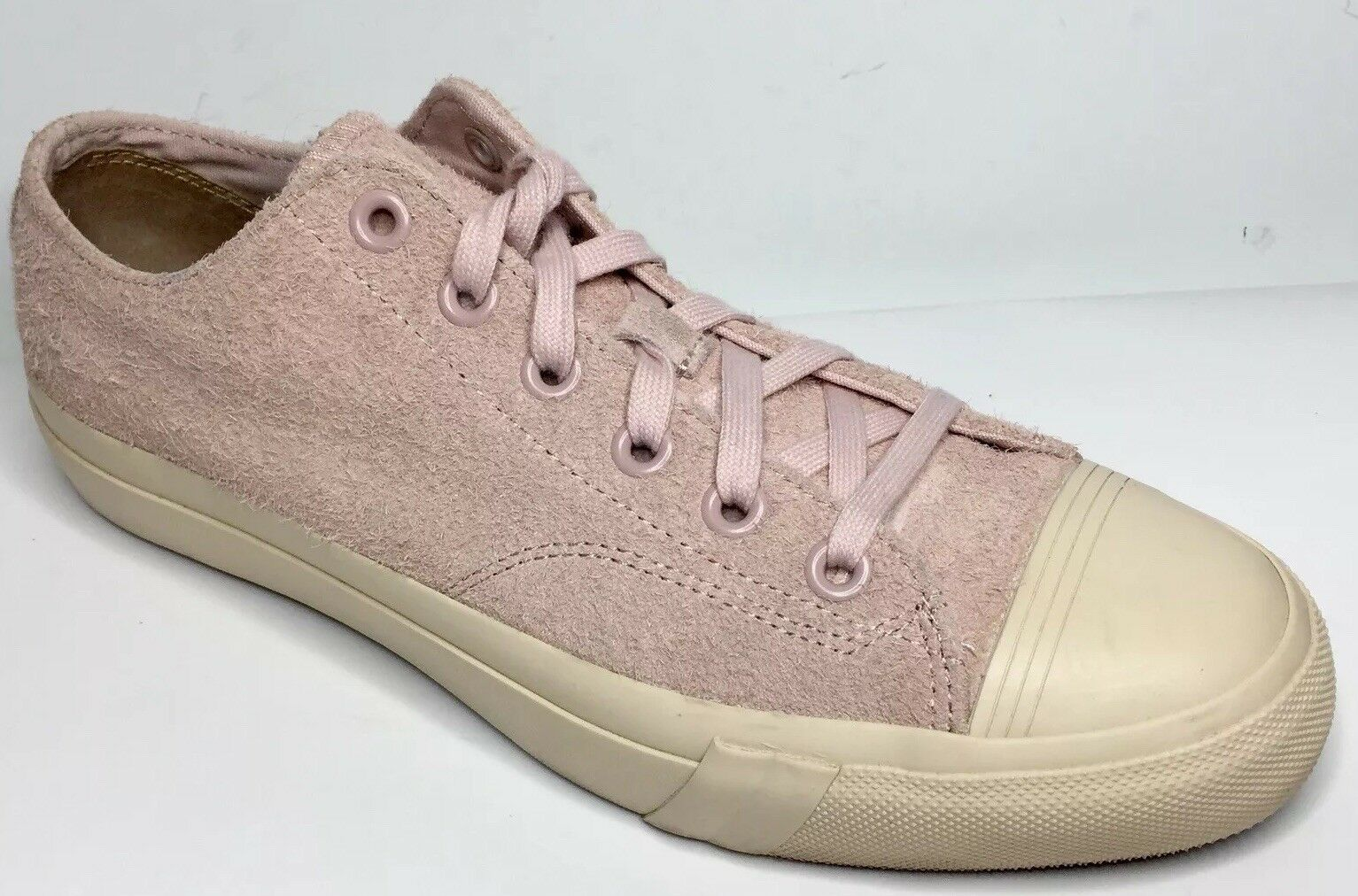 Mens Pro-keds Royal Lo Hairy Suede Pink